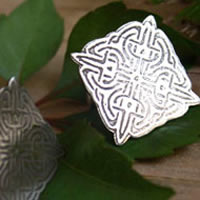 Lancelot, Celtic knot cufflinks in sterling silver