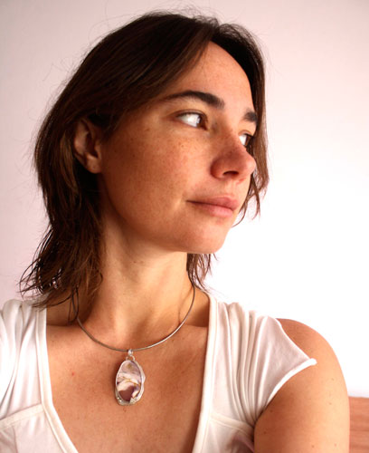 Bhora, fantastic dawn pendant in sterling silver and mookaite