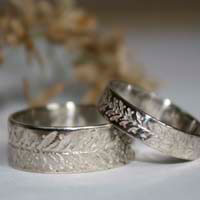 Wedding rings, custom made rings in sterling silver