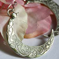 Celtic moon, Celtic moon crescent earrings in sterling silver