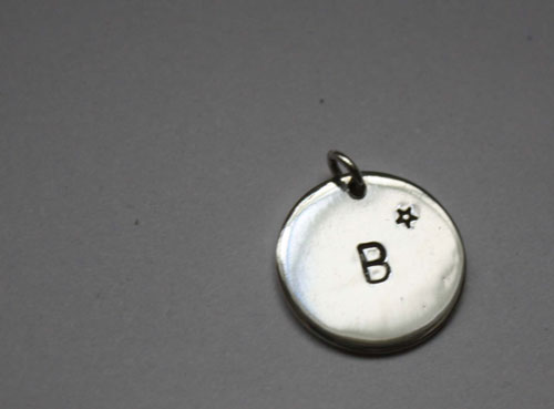 Initial pendant, letter pendant in sterling silver