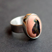 Opalo, sterling silver cantera opal ring