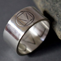 Prism, square triangle circle ring in sterling silver