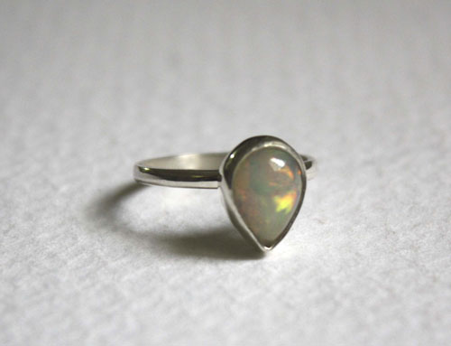 Queen of Sheba, mythical kingdom ring in sterling silver and Ethiopian opal