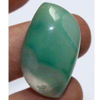 green agate A cabochon
