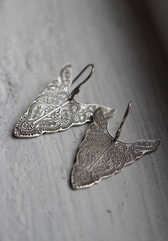 Abundances, animal totem buffalo earrings in sterling silver