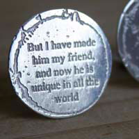 But I have made him my friend, the little prince cufflinks in sterling silver