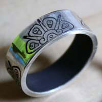 Divine Sun, tribal Mayan sun ring in sterling silver