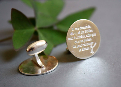 Find your star, The little prince cufflinks in sterling silver