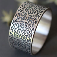 Gentleman, baroque dandy ring in sterling silver