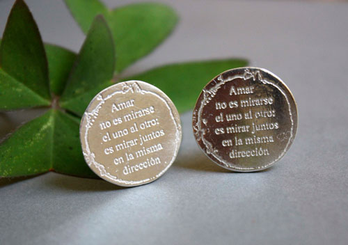 Mirar juntos, The little prince cufflinks in sterling silver