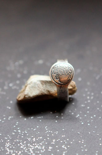 Moon phase, custom moon phase ring in sterling silver