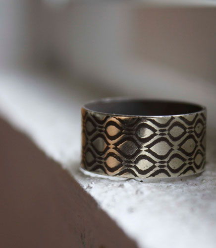 Neo, matrix ring in sterling silver