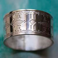 Nomad, Tuareg ethnic tribal ring in sterling silver
