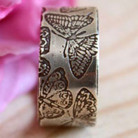 Nymphea, butterfly ring in sterling silver