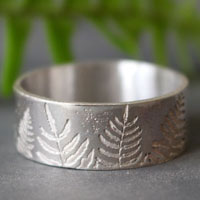 Raden, fern ring in sterling silver