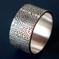 Richard the Lionheart, crosses of medieval coat ring in sterling silver
