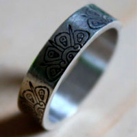 Sacred Sun, tribal Mayan sun ring in sterling silver