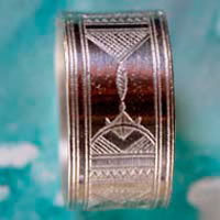Sahara, Tuareg ethnic tribal ring in sterling silver