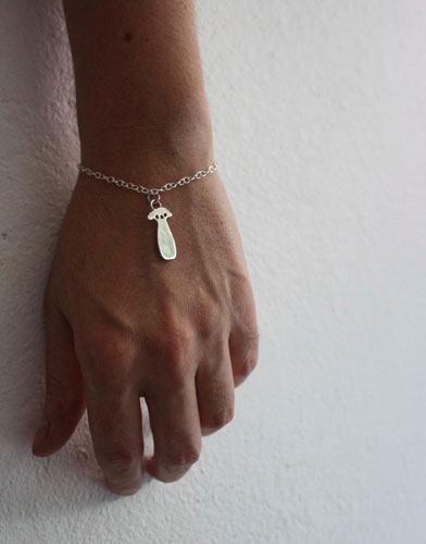 Small baobab, the little prince's tree bracelet in sterling silver