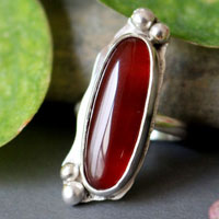 Zephyrine, sterling silver ring with your choice of stone