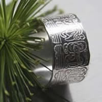 Maya Calendar, mayan calendar long count ring in sterling silver