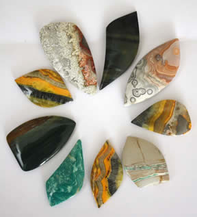 Selection of semi precious stones for custom order