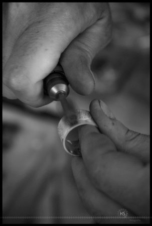 Sanding a sterling silver ring
